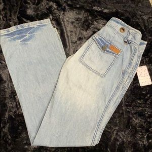 Free People Rare Blue Straight Jeans. 26.